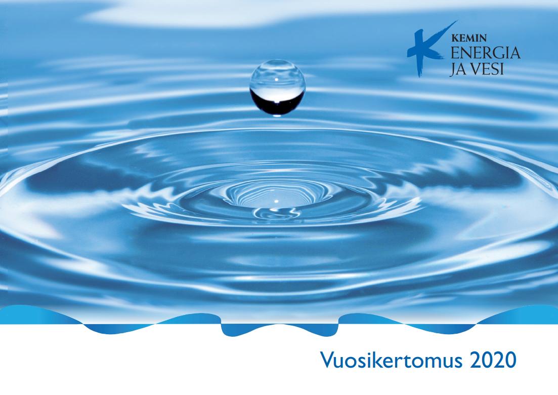 Kemin Energia ja Vesi Oy:n vuosikertomujksen 2020 kansilehti